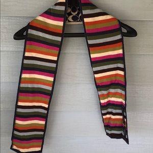 Coach scarf reversible wool